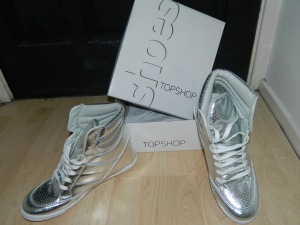 TopShop Shoes..Wedge Hi Top Trainer!