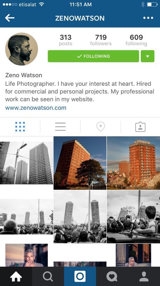 Photographer Zeno Watson
